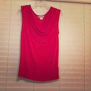 Michael Kors ruched neck line tank top blouse